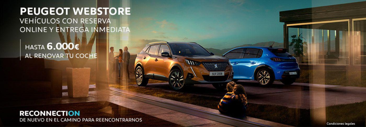 Peugeot hasta 6.000€ al renovar tu coche